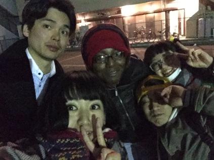 TheWNS, Futtachi, Hiroki, 村里 杏. Thanks for dinner, y'all!