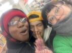 TheWNS,村里 杏 and Hiroki go to the supermarket.