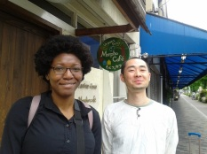 Kyoto! w/the Manager (Owner?) of Morpha Café in Kyoto. Was super nice and his english was really good so we chatted a bit. Was ready to buy half his store, I was so starved for non Convenience store food. Was a bit on the expensive side but I would def. go back my next time in Kyoto.